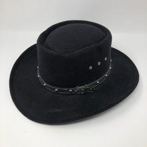 758e354463978d Western Black Faux Felt Cowboy Hat, used for sale